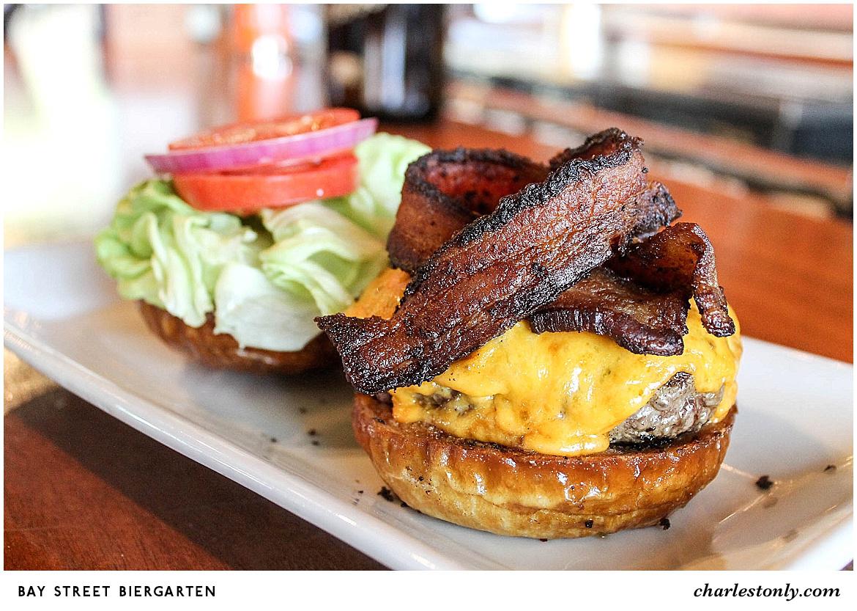 Bay Street Biergarten Cheeseburger