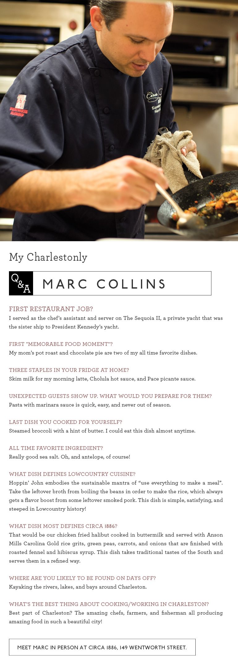 Chef Marc Collins