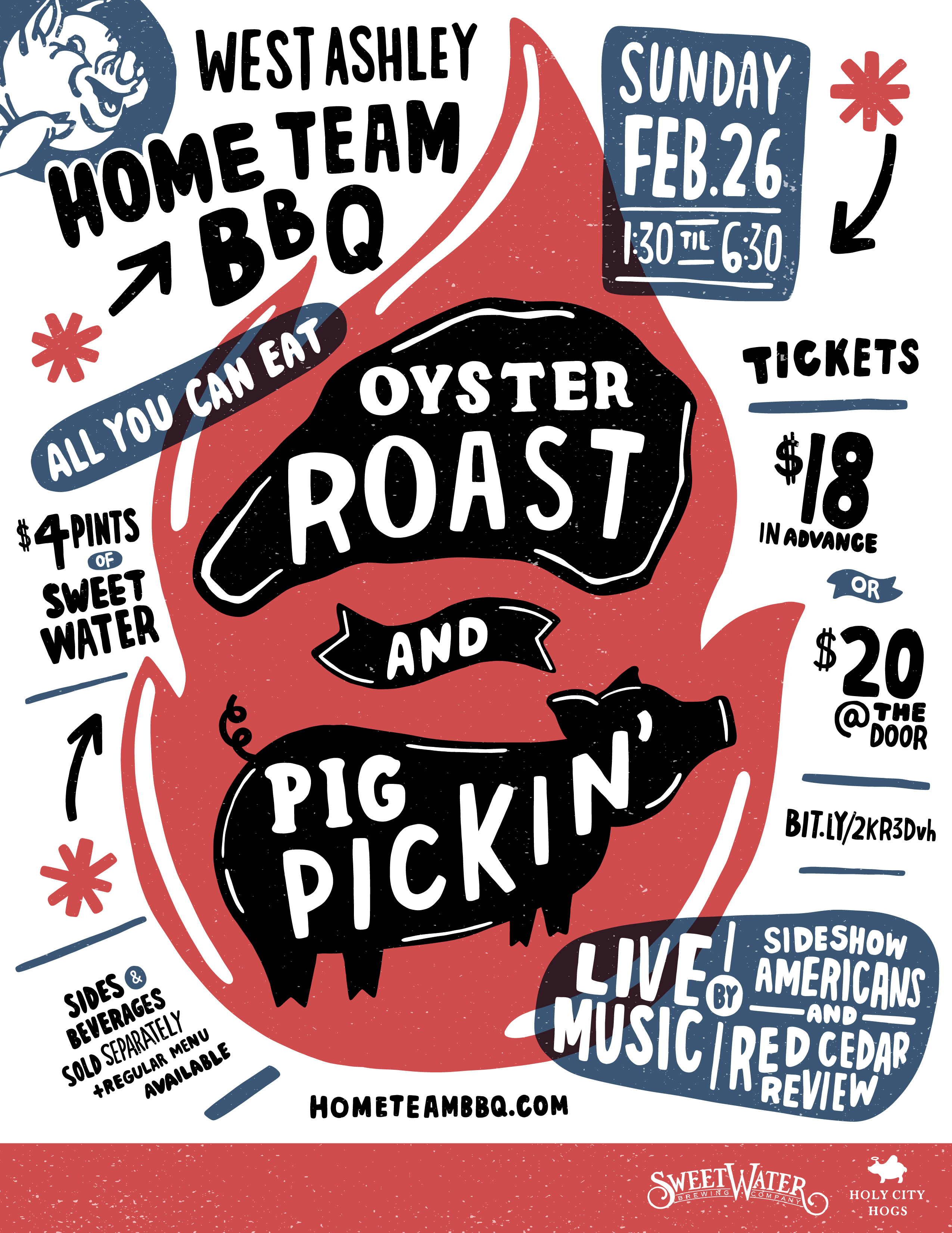 Home Team BBQ West Ashley Hosts Oyster Roast Pig Pickin